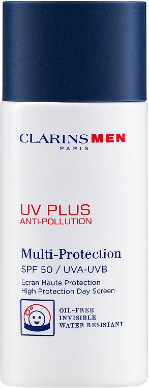 Fluido facial antipolución de protección solar - Clarins Men UV Plus Anti-Pollution SPF50 — imagen N1