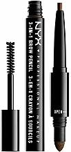 Perfumería y cosmética Lápiz de cejas multiuso 3 EN 1 - NYX Professional Makeup 3-in-1 Brow Pencil