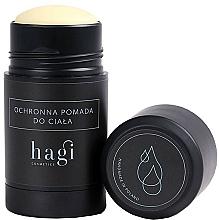 Perfumería y cosmética Pomada corporal protectora en barra con manteca de cacao - Hagi