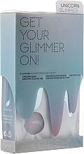 Perfumería y cosmética Set de pedicura en 5 pasos para pieles dañadas con extracto de melocotón, vegano - Voesh Pedi In A Box 5 Step Unicorn Glimmer