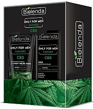 Perfumería y cosmética Set facial (crema/50ml + pasta peeling/150g) - Bielenda Only For Men Cannabis