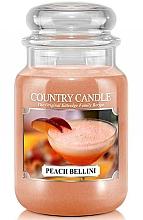 Perfumería y cosmética Vela en tarro con aroma a melocotón & almizcle - Country Candle Peach Bellini