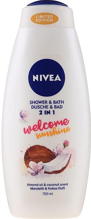 Gel de ducha y baño con aroma a coco y almendra - Nivea Welcome Sunshine Body Wash Limited Edition