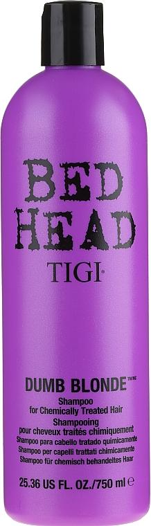 Champú para cabello tratado químicamente con aminoácidos - Tigi Bed Head Dumb Blonde Shampoo — imagen N3