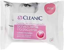 Perfumería y cosmética Toallitas húmedas desmaquillantes micelares, 10uds. - Cleanic Cleanse & Soothe Wipes