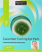 Perfumería y cosmética Parches refrescantes de pepino para contorno de ojos cansados - Beauty Formulas Cucumber Cooling Eye Pads
