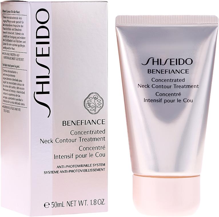 Crema antienvejecimiento para cuello y escote con extracto de raiz de ginseng - Shiseido Benefiance Concentrated Neck Contour Treatment — imagen N1