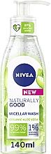 Perfumería y cosmética Gel de limpieza facial micelar con aloe vera orgánico - Nivea Naturally Good Micellar Wash