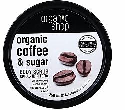 Perfumería y cosmética Exfoliante corporal orgánico con aceite de café orgánico y azúcar natural - Organic Shop Body Scrub Organic Coffee & Sugar