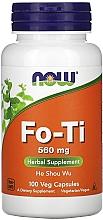 Perfumería y cosmética Complemento alimenticio en cápsulas Fo-Ti, 560 mg - Now Foods Fo-Ti He Shou Wu