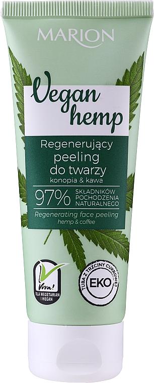 Peeling facial regenerador natural con aceite de semilla de cáñamo y café - Marion Vegan Hemp Face Peeling 97%