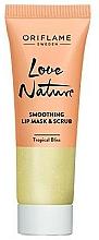 Perfumería y cosmética Mascarilla exfoliante labial de azucar hidratante con menta y lima - Oriflame Love Nature Smoothing Lip Mask & Scrub