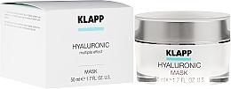 Perfumería y cosmética Mascarilla facial hialurónica con aceites de oliva y de argán - Klapp Hyaluronic Mask