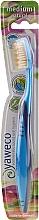 Perfumería y cosmética Cepillo dental de dureza media, azul - Yaweco Toothbrush Natural Medium