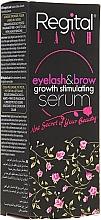 Perfumería y cosmética Sérum para pestañas y cejas con ácido hialurónico y arginina - Regital Lash Eyelash & Brow Growth Stimulating Serum
