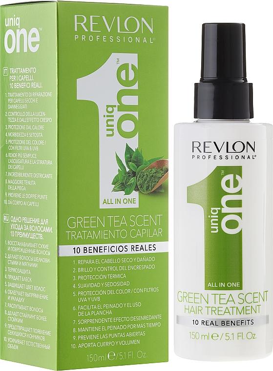 Tratamiento capilar reparador con aroma a té verde - Revlon Professional Uniq One Green Tea Scent Hair Treatment