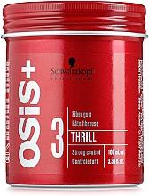 Perfumería y cosmética Gomina moldeadora de cabello con cera de carnauba, fijación fuerte - Schwarzkopf Professional Osis+ Thrill Texture Fibre Gum