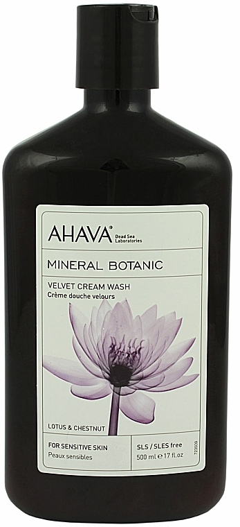 Crema de ducha con loto y castaña - Ahava Mineral Botanic Velvet Cream Wash Lotus Flower & Chestnut — imagen N1