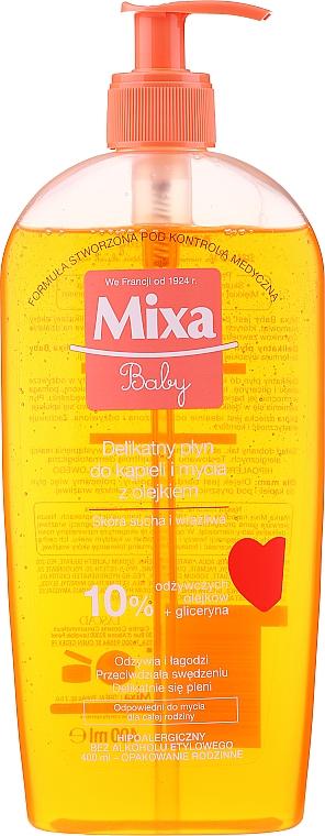Aceite de baño y ducha para bebés - Mixa Baby Foaming Oil