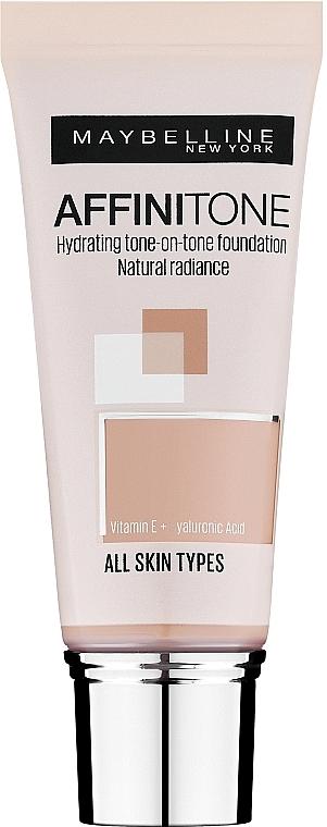 Base de maquillaje hidratante con vitamina E y aceite de argán - Maybelline Affinitone