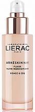 Perfumería y cosmética Fluido redensificante de noche para rostro y cuello con ácido hialurónico y semilla de lino - Lierac Arkeskin Night Fluide Nutri-redensifiant