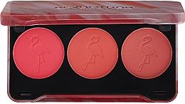 Perfumería y cosmética Paleta de colorete facial - Makeup Revolution Flamingo Mini Trio Blush Palette Oh My Blush