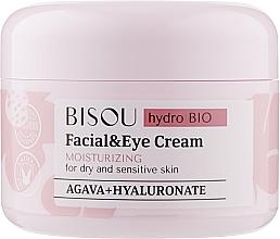 Perfumería y cosmética Crema hidratante para rostro y contorno de ojos con ácido hialurónico - Bisou Hydro Bio Facial Eye Cream