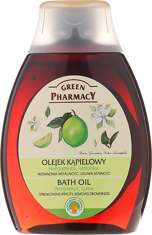 Aceite de ducha y baño, Bergamota & lima - Green Pharmacy