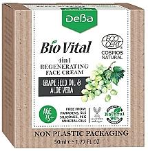 Perfumería y cosmética Crema facial regeneradora 4en1 con aceite de semilla de uva y aloe vera - DeBa Bio Vital Regenerating Face Cream 4in1