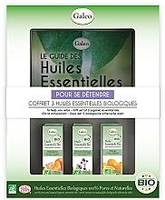 Perfumería y cosmética Galeo To Help You Relax Gift Set - Set de bio aceites esenciales relajante (mandarina/10ml, verbena exótica/10ml, naranja/10ml)