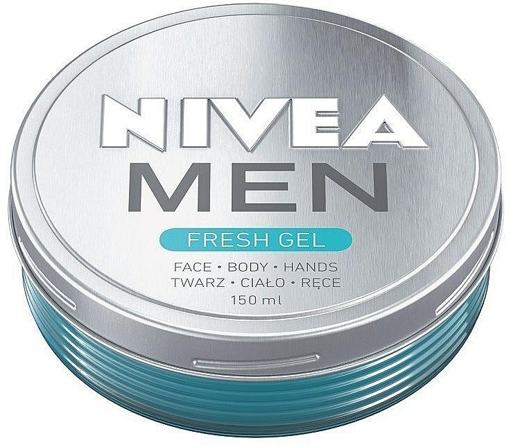 Gel refrescante para rostro, manos y cuerpo - Nivea Men Fresh Gel