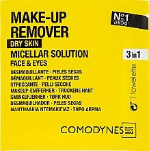 Perfumería y cosmética Toallitas desmaquillantes micelares para pieles secas - Comodynes Make Up Remover Micellar Solution Easy Cleanser