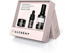 Perfumería y cosmética Set (crema facial/15ml+ aceite facial/5ml+ agua micelar/30ml) - D'Alchemy Loss of Elasticity Skin Renewer Travel Pack