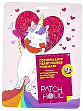 Perfumería y cosmética Mascarilla reafirmante para mentón con extracto de rosa - Patch Holic Costopia Love Heart Double Chin Mask