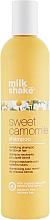 Perfumería y cosmética Champú para cabello fino y claro con extracto de camomila - Milk Shake Sweet Camomile Shampoo
