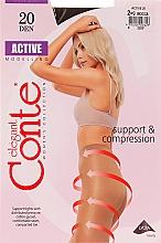 Perfumería y cosmética Pantis de compresión Active, 20 Den, mocca - Conte