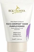 Perfumería y cosmética Mascarilla facial con acai orgánico y frutas del dragón - Eco by Sonya Face Compost Mask Purple Power