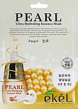 Perfumería y cosmética Mascarilla facial de tejido hidratante con extracto de perla - Ekel Pearl Ultra Hydrating Essence Mask