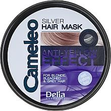 Perfumería y cosmética Mascarilla capilar anti tonos amarillos con aceite de argán - Delia Cameleo Silver Hair Mask