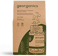 """Perfumería y cosmética Recarga de tabletas de enjuague bucal """"árbol de té"""" - Georganics Mouthwash Tablets Tea Tree"""