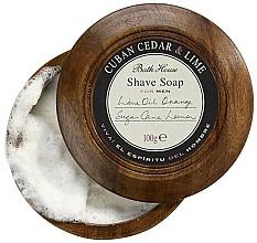 Perfumería y cosmética Bath House Cuban Cedar & Lime - Jabón de afeitar con cedro & lima