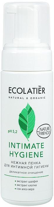 Espuma para higiente íntima con extractos de salvia y algodón - Ecolatier Intimate Hygiene