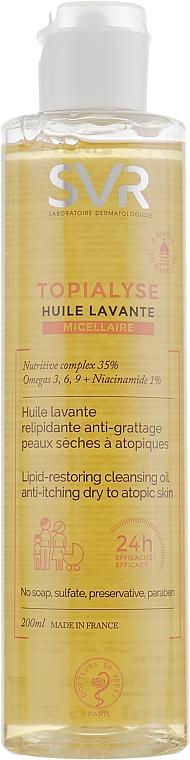 Aceite de limpieza facial restaurador de lípidos con niacinamida - SVR Topialyse Lipid-Restoring Cleansing Oil
