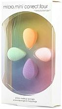 Perfumería y cosmética Set mini esponjas de maquillaje, 4uds. - Beautyblender Micro.Mini Correct.Four