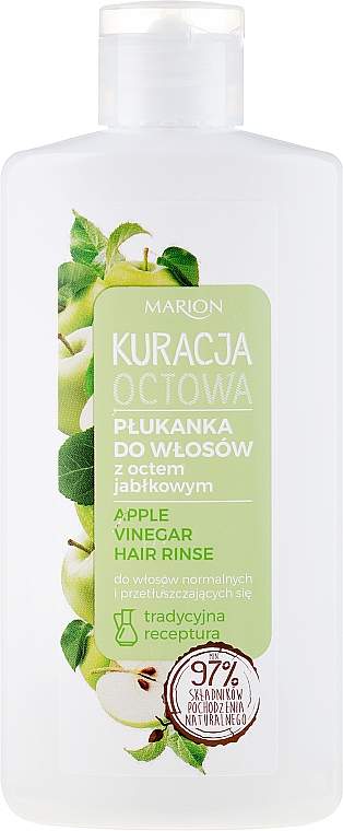 Acondicionador para cabello normal y graso con vinagre de manzana - Marion Apple Vinegar Hair Rinse