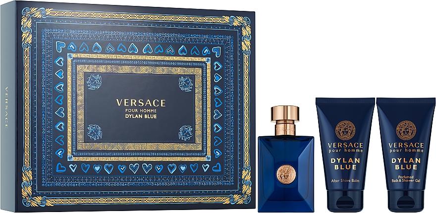 Versace Pour Homme Dylan Blue - Set (eau de toilette/50ml + bálsamo after shave/50ml + gel de ducha/50ml)