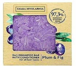 Perfumería y cosmética Champú acondicionador sólido 2en1 con extracto de ciruela e higo - Stara Mydlarnia Plum & Fig 2in1 Shampoo Bar