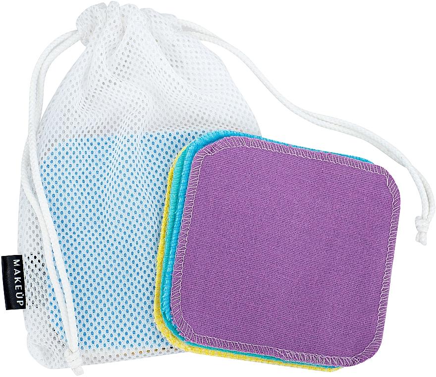 Esponjas desmaquillantes reutilizables en bolsita - Makeup Remover Sponge Set Multicolour & Reusable