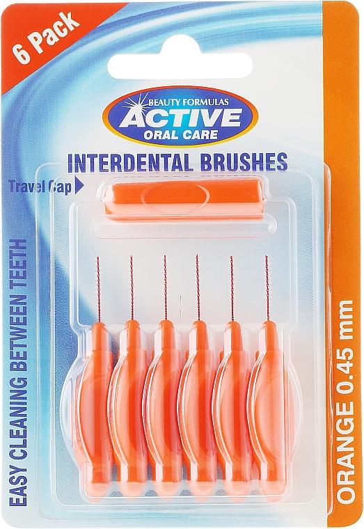 Cepillos interdentales color naranja 0,45 mm - Beauty Formulas Active Oral Care Interdental Brushes