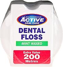 Perfumería y cosmética Hilo dental con cera alba , aroma a menta - Beauty Formulas Active Oral Care Dental Floss Mint Waxed 200m